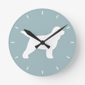 Cockapoo Silhouette Round Clock