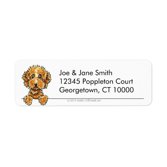 Cockapoo Tan Clean & Simple Return Address Label