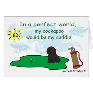 CockapooBlk Greeting Card