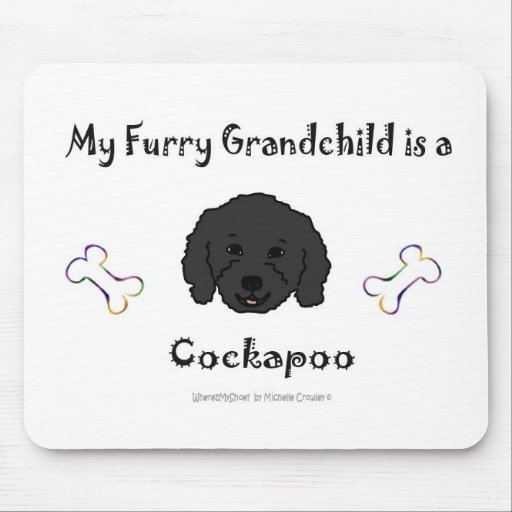 CockapooBlk Mouse Pads