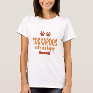 Cockapoos Make Me Happy T-Shirt