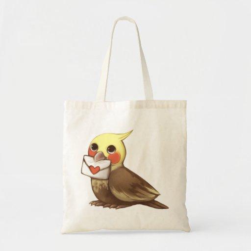 Cockatial Letter Canvas Bag