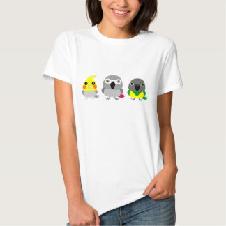 Cockatiel, African Grey, and Senegal Parrot T-shirts