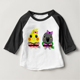 Cockatiel and Senegal Parrot in Kimono T-shirt