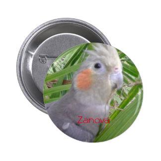 Cockatiel 6 Cm Round Badge