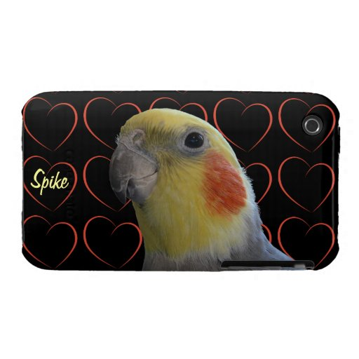 Cockatiel Bird and Hearts iPhone 3 Covers