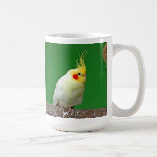 Cockatiel bird beautiful photo I love heart mug
