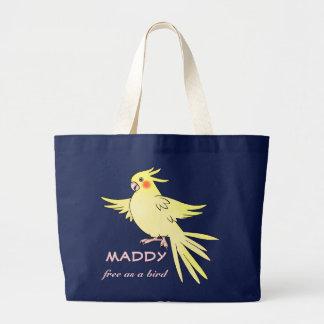 """Cockatiel Bird """"Free As A Bird"""" Bag"""