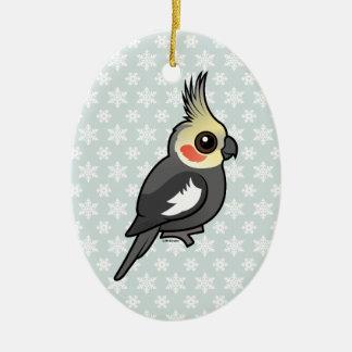 Cockatiel Christmas Ornament