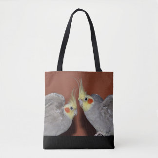 Cockatiel Duo All Over Print Bag