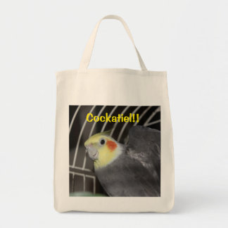 Cockatiel Grocery Tote Bag