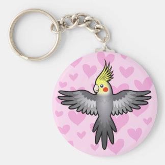 Cockatiel Love Key Ring