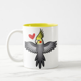 Cockatiel Love Two-Tone Coffee Mug