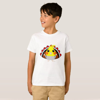 Cockatiel parrot in turkey costume Thanksgiving T-Shirt