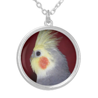 Cockatiel Parrot Silver Plated Necklace