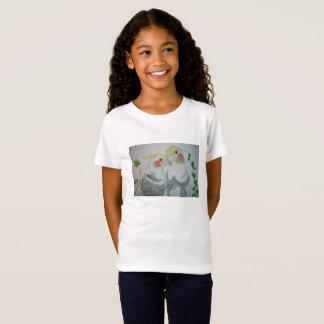 Cockatiel Parrots watercolor T-shirt