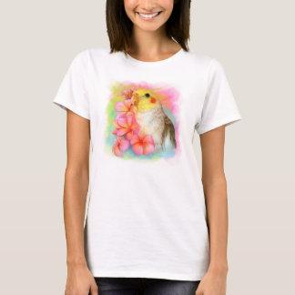Cockatiel with frangipani T-Shirt