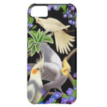 Cockatiels in Forget Me Nots iPhone Case