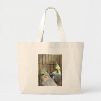 Cockatiels Large Tote Bag