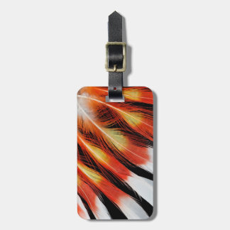 Cockatoo Feather Pattern Luggage Tag