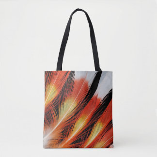 Cockatoo Feather Pattern Tote Bag