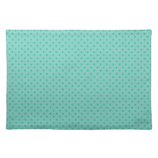 Cockatoo Mint Green And Emerald Small Polka Dots Placemat