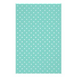 Cockatoo, Mint Green And White Small Polka Dots Customized Stationery