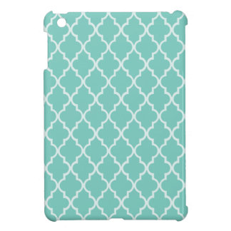 Cockatoo - Spearmint Maroccan Trellis - Quatrefoil iPad Mini Cover