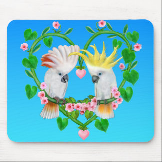 Cockatoos of the Heart Mouse Pad