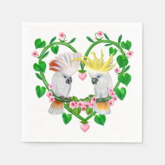 Cockatoos of the Heart Paper Napkin