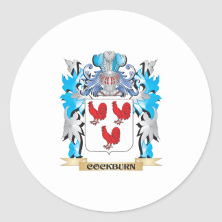 Cockburn Coat of Arms - Family Crest Round Sticker