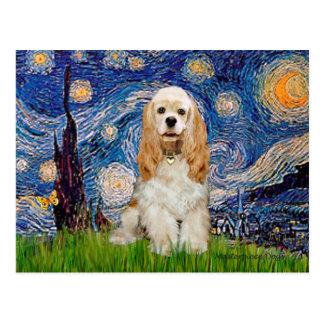 Cocker (Buff) - Starry Night Postcard