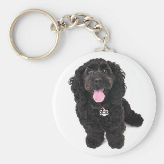 cocker poodle mix puppy Keychain