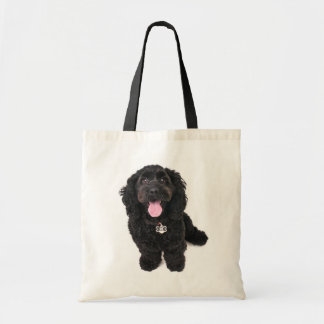 cocker poodle mix puppy  tote