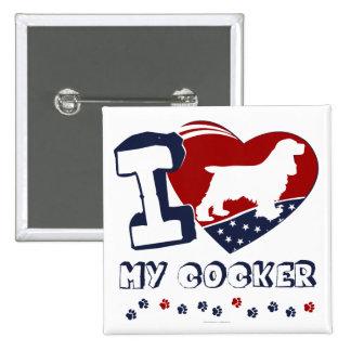 Cocker Spaniel 15 Cm Square Badge