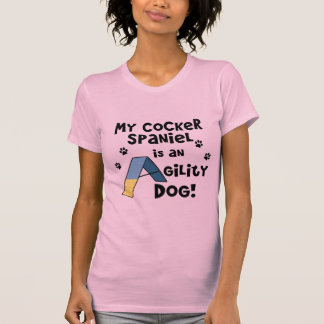 Cocker Spaniel Agility Dog Ladies Twofer Shirt