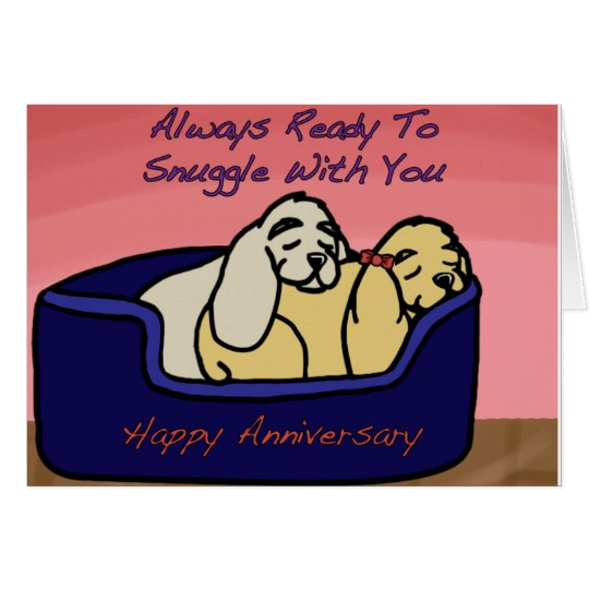 Cocker Spaniel Anniversary Card