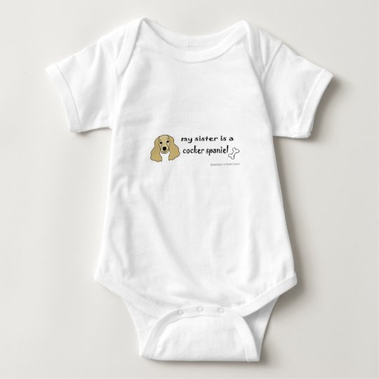 cocker spaniel baby bodysuit