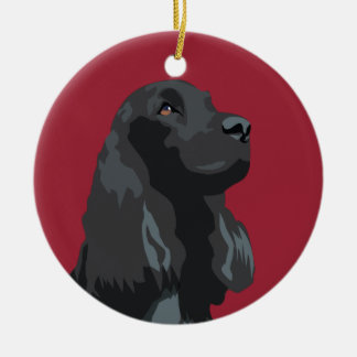 Cocker Spaniel - Black - Basic Breed Templates Christmas Ornament