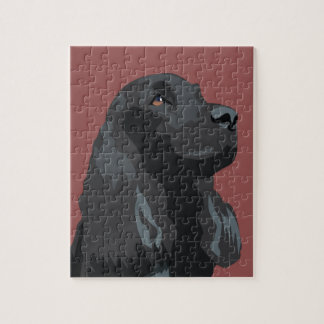Cocker Spaniel - Black - Basic Breed Templates Jigsaw Puzzle
