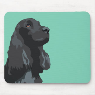 Cocker Spaniel - Black - Basic Breed Templates Mouse Mat