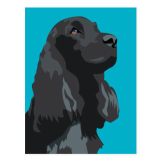 Cocker Spaniel - Black - Basic Breed Templates Postcard