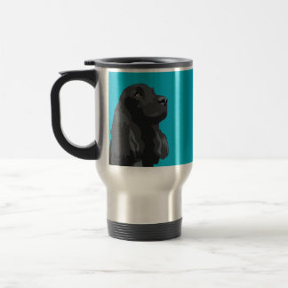 Cocker Spaniel - Black - Basic Breed Templates Travel Mug