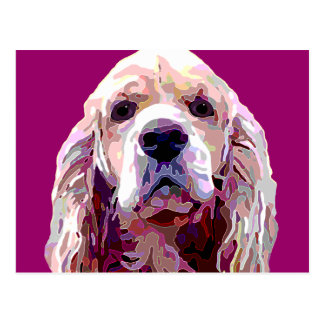 Cocker Spaniel Bright Berry Colors Postcard