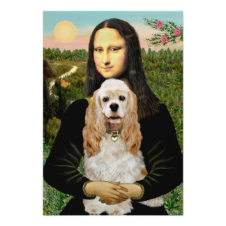 Cocker Spaniel (Buff) - Mona LIsa Poster