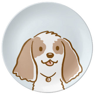 Cocker Spaniel Cartoon Dog Plate