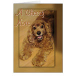 Cocker Spaniel Cheer You-customise any occasion