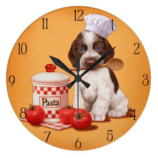 Cocker Spaniel Chef design Large Clock