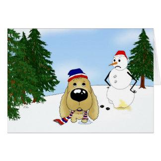 Cocker Spaniel Christmas Card