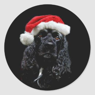 Cocker Spaniel Christmas Classic Round Sticker
